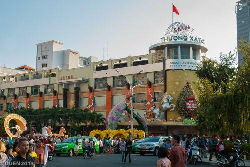 prekybos centras,centro miestas,miestas,saigon,Vietnamas,Hošimino miestas,mėnulio naujieji metai,miega,gražus,gražus,vietnamiečių,pavasaris,gėlės,gatvė,gėlių gatvė