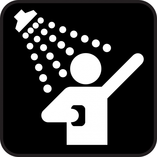 dušas,dušas,purkšti,valymas,skalbimas,vanduo,juoda,simbolis,ženklas,piktograma,nemokama vektorinė grafika