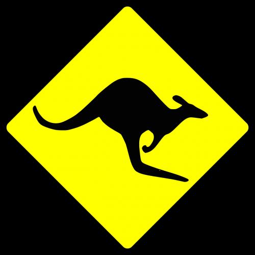 ženklas,simboliai,Kengūra,australia,siluetas,komunikacija,informacija,vėliava,aussie,vairuoja,gyvūnas,atsargiai,australian,nemokama vektorinė grafika