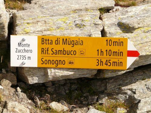 Ženklai, Katalogas, Skydas, Monte Zucchero, Ticino