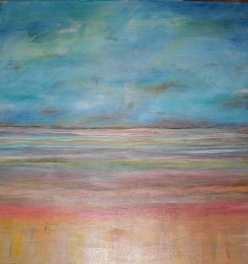 Tyla, Ro, Horizontas, Dažymas, Menas, Dažyti, Abstraktus