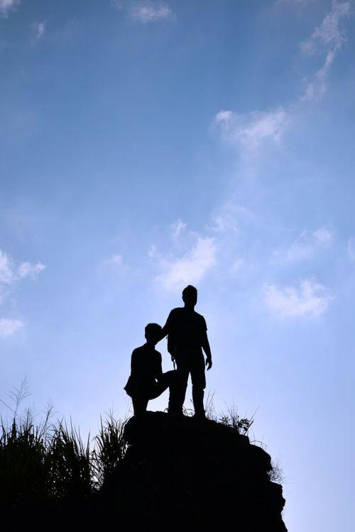 siluetas,berniukai,dangus,aukštas,Rokas,žmonės,mėlynas dangus,kadugannawa,Šri Lanka,Mawanella,ceilonas