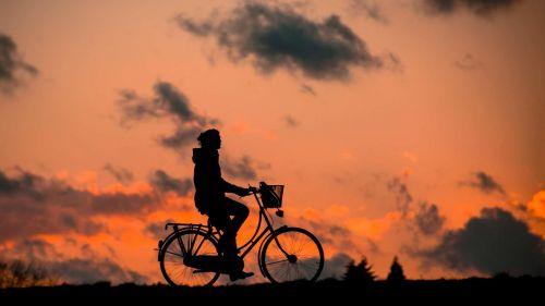 siluetas,fitnesas,į sveikatą,dviratis,moteris,sportiškas,sveikas