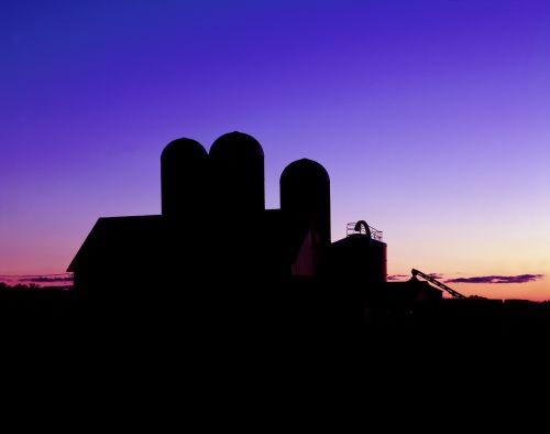 siluetas,tvartas,Žemdirbystė,ūkis,saulėlydis,dusk,šviesa,piktograma,simbolis,pastatas,kaimas,kraštovaizdis,scena,formos