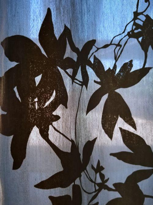 fonas, tapetai, abstraktus, siluetas, siluetas, augalas, palmių & nbsp, lapai, mėlynas, siluetas lapų fonas