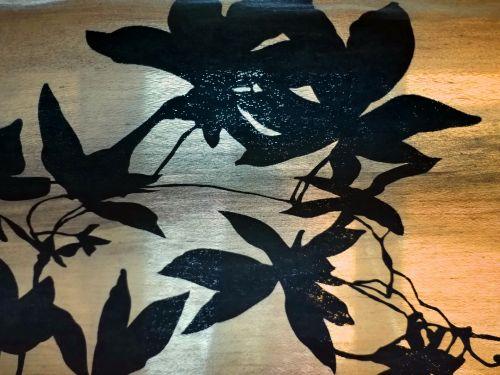 fonas, tapetai, abstraktus, siluetas, siluetas, augalas, palmių & nbsp, lapai, oranžinė, siluetas lapų fonas
