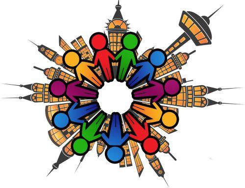 siluetai,asmuo,rajonas,miestas,namai,žmogaus grandinė,žmogus,grupė,kartu,bendruomenė,darbo bendruomenė,gauja,statistika,kiekybiniai,išdėstymas,ranka rankon