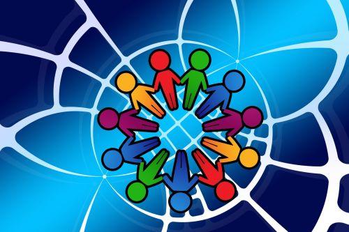 siluetai,asmuo,tinklas,rajonas,tinklų kūrimas,žmogaus grandinė,žmogus,grupė,kartu,bendruomenė,darbo bendruomenė,gauja,statistika,kiekybiniai,išdėstymas,ranka rankon