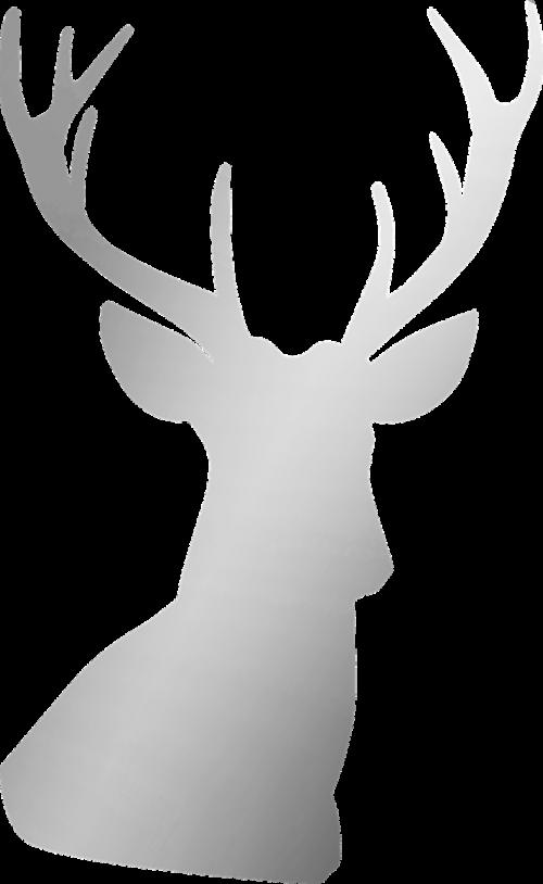sidabras,elnias,antler,Buck,ežeras,metalinis,folija,Kalėdos,šiaurės elniai