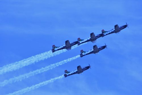reaktyvinis, komanda, aerobatic, formavimas, tikslumas, oro šou, sidabro alkūnės aerobačių komanda 2
