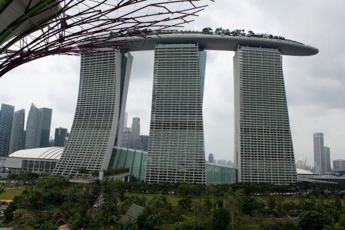 Singapūras, sodas, įlanka, Singapūro sodas prie įlankos