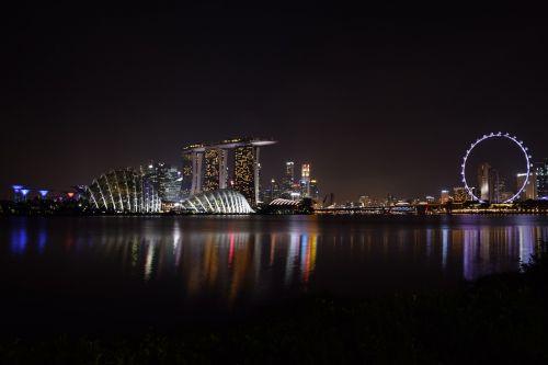 Singapūro upė,sodas prie įlankos,kraštovaizdis,miestas