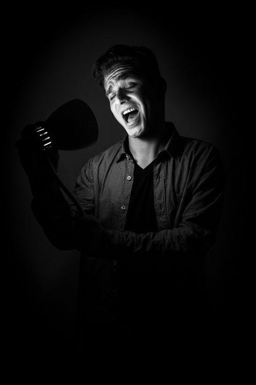 dainininkė, vyrų, talentas, marškinėliai, muzika, dėstytojas, nuotaika