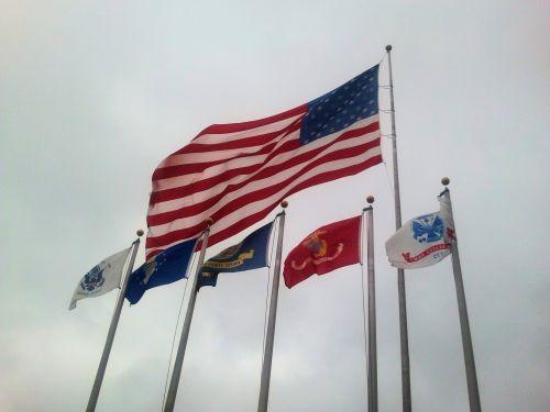amerikietis, vėliava, in, senoji & nbsp, šlovė, patriotinis, raudona, balta, mėlynas, šešios vėliavos