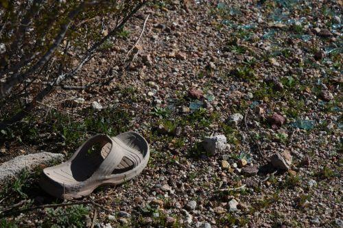 sandalas, vienas, vienišas, dykuma, prarastas, Grunge, purvas, dydis 10