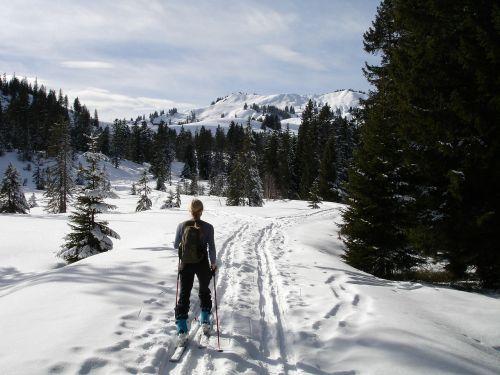 backcountry skiiing,skitouren pirmtakas,diolkos,Allgäu,gunzesrieder slėnis,hoellritzereck,Žiemos sportas,žiema,Sportas,moteris