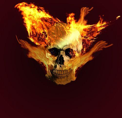 kaukolė,galva,kaukolė ir skersmens kaulai,ghostrider,liepsna,deginti,ugnies šviesa,Ugnis,ugnis liepsna,degiklis