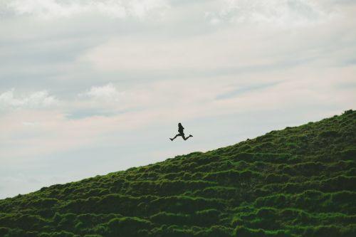 dangus,debesys,gamta,žalias,žolė,Highland,žmonės,moteris