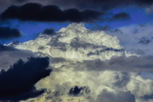 dangus,debesys,gamta,atmosfera,meteorologija,oras,cumulus,įspūdingas,per naktį