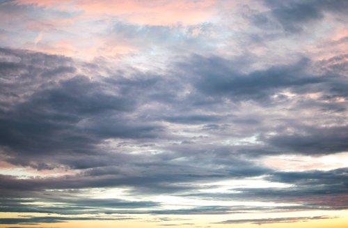 dangus, debesys, pobūdį, Orų, Cumulus, vasara, saulėlydis
