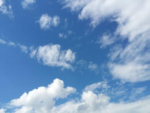 Dangus, Mėlynas, Debesys, Oras, Gamta, Cloudscape, Oras, Atmosfera