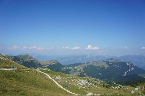 dangus, kalnai, debesys, garda, natūralus spektaklis, gamta, vaizdas, kraštovaizdis