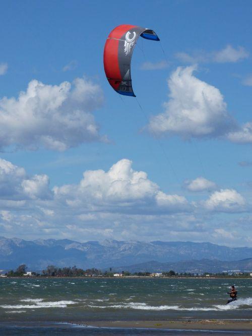 Dangus Naršyti, Ekstremalus Sportas, Vandens Sportas, Vėjas, Jūra, Ebro Delta