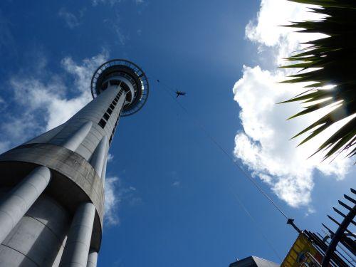 dangus bokštas, Auckland, nauja & nbsp, zealand, bungee, šokinėti, dangaus bokšto bungee