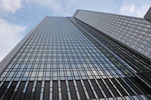Panorama, Bankas, Frankfurtas Yra Pagrindinė Vokietija, Vokietija