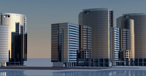 dangoraižis,dangoraižiai,pastatas,architektūra,miestas,aukštas,miesto planavimas,siluetas,bokštai,šešėlis,panorama,statybos darbai,bokštas,3d,3d modelis,Kompiuterinė grafika,3d vizualizacija,atvaizdavimas,3d modelis