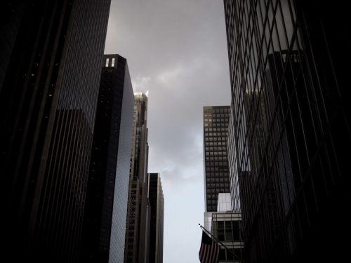 dangoraižis,pastatas,verslas,atspindys,Manhatanas,miestas