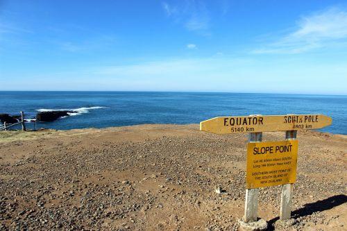 nuolydžio taškas,pietų taškas,Naujoji Zelandija,pietų sala,jūra,skydas