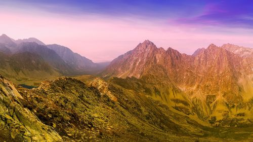 slovakija,kalnai,slėnis,kraštovaizdis,vaizdingas,gamta,lauke,Šalis,kaimas,Nuotolinis,hdr,saulėlydis,panorama