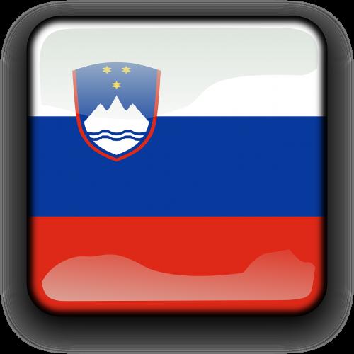 slovenia,vėliava,Šalis,Tautybė,kvadratas,mygtukas,blizgus,nemokama vektorinė grafika