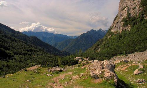 slovenia,praeiti,kalnai