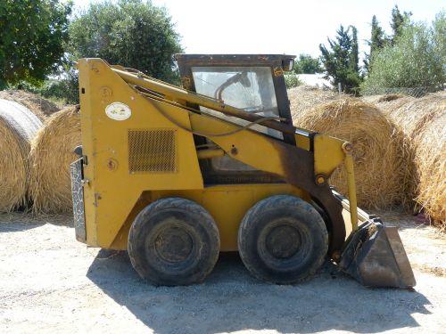 maža mašina,statybos mašina,variklis,geltona,mašina,ūkio mašina,traktorius