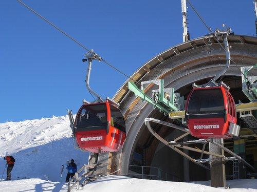 sniegas, Žiemos, šalto, transporto sistema, Liftas, kalnų, kelionė, slidinėjimo atostogų, Kalnų geležinkelio, Gondola, keltuvas, Dorfgastein, kalnų stotis