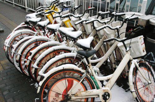 dviračiai, dviratis, dviračiai, sniegas, žiema, sniego dviračiai