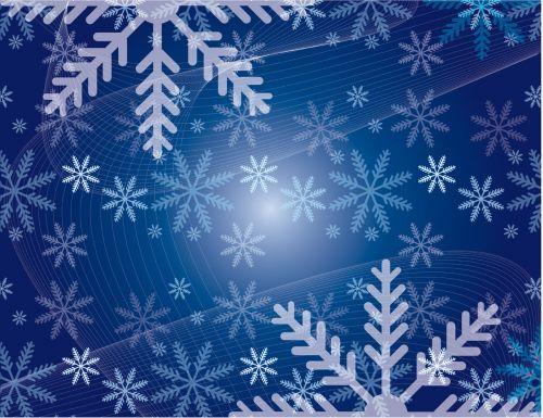Kalėdos, snaigės, snieguotas, mėlynas, fonas, snieguotas Kalėdų senelis
