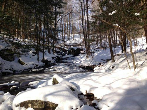 žiema, sniegas, katastrofos, naujas, York, upelis, snieguotas upelis
