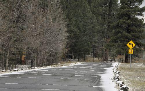 sniegas, snieguotas, žiema, kelias, gatvė, greitkelis, 15 & nbsp, mph, vairuoja, kelionė, snieguotas kelias