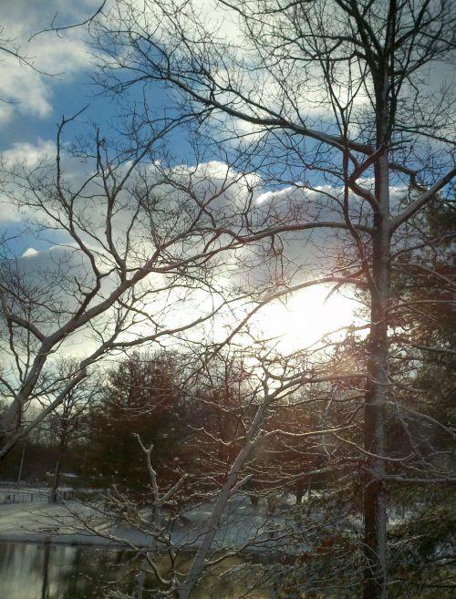 mėlynas & nbsp, dangus, saulėtekis, sniegas, snieguotas saulėtekis mėlyname danguje