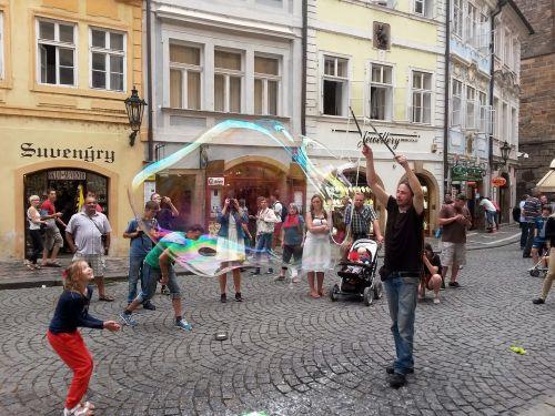 muilo burbulas, gatvės menininkai, menininkai, centro, prague, patraukliai