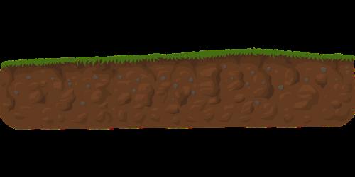 dirvožemis,žemė,kasimas,eksponuotos,sluoksniai,padengti,žalias,žolė,iškasti,gamta,žemė,žemė,nemokama vektorinė grafika