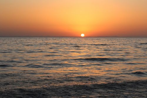 Saulės Energija, Saulėtekis, Vanduo, Jūra, Horizontas, Veidrodis, Vasara, Gražiai, Vis Dar, Ro, Taikus
