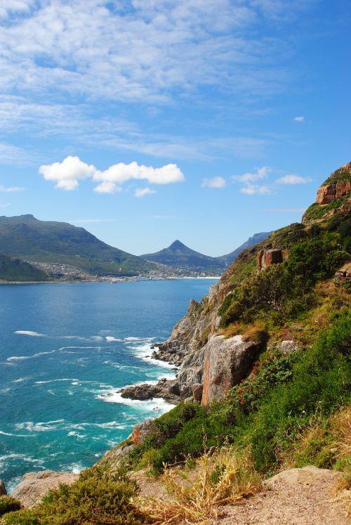 pietų Afrika,viršūnė,pusiasalis,Chapmano viršūnė,panorama,jūra,lionshead,Cape Town