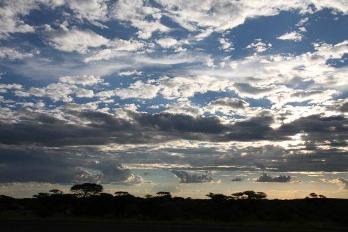 pietų Afrika,afrika,dangus,debesys,dusk,kelionė,mėlynas,turizmas