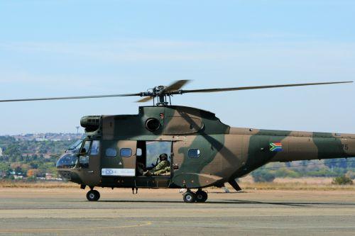 sraigtasparnis, rotorius, Puma, taksiravimas, oras & nbsp, šou, pietų afrikos oro pajėgų muziejus puma