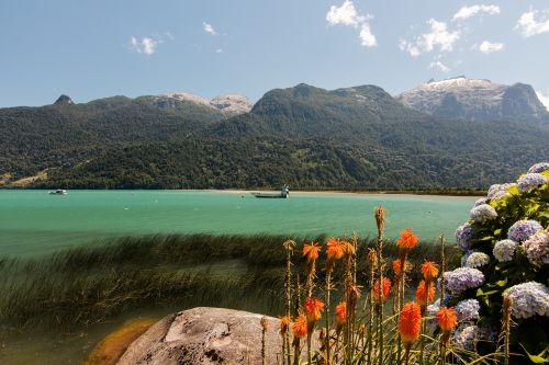 Pietų Amerika, Čile, Llanquihue Provincija, Lago Todos Dos Santos, Petrohue, Ežeras, Kalnai
