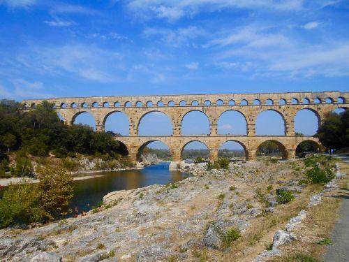 pietų france,france,pelė du garde,romėnų,tiltas,upė,gamta,Unesco